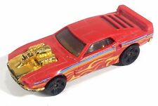Hot Wheels Rivited Race Car Red Gold Flames Blue Stripe 1186 MJ F1 Thailand
