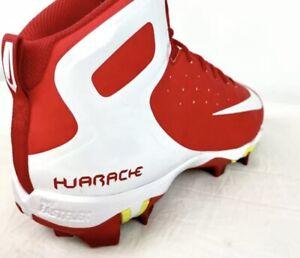 Mens Nike Alpha Huarache Fastflex Red White Baseball Cleats Size 12 923429-611