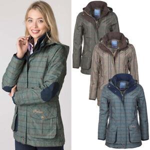 Ladies Shooting Jacket Classic Rydale Women's Tweed Pattern Outdoor Hunting Coat