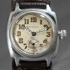 Exceedingly Rare 1928 Rolex Oyster Man's Early Waterproof Watch Mercedes Gleitze