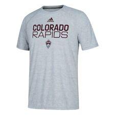 Colorado Rapids Mls Adidas Men's Grey 2019 Team Graphic Perf Long Sleeve Shirt