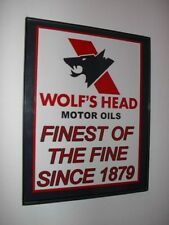 Wolf's Haed Oil Gas Service Station Garage Framed Advertsing Print Man Cave Sign