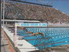 congo (brazzaville) Bloc 41 (complète edition) oblitéré 1987 vorolympisches Anné