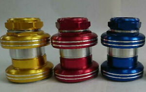 "YST Red blue gold headset 1"" threaded MX 5 fits gt jmc old school BMX Sealed"