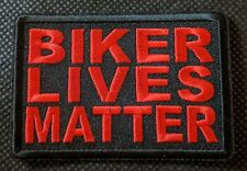 Biker Lives Matter RED Embroidered Biker Patch