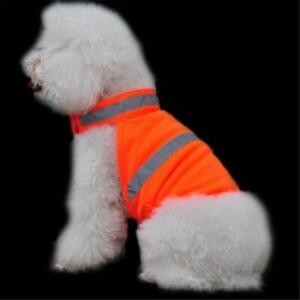 Pets Fluorescent Security Dog Reflective Vest Clothes Safety Luminous Waterproof