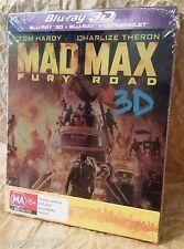 MAD MAX FURY ROAD Blu-Ray 3D Australia Limited Ed. Exclusive Futurepak Steelbook