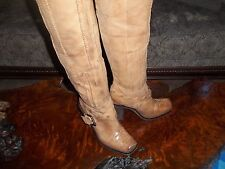 HOT! DONALD PLINER LISA BARCO 23 INCH OVER THE KNEE LEATHER BOOTS SIZE 10 SADDLE