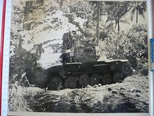 WW2 Guadalcanal? Pearl Harbor? Tank Island  Original Press Military Photo