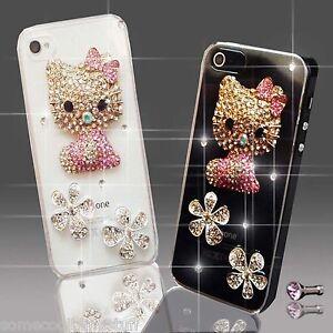 NEW DIAMANTE HELLO KITTY DIAMOND CASE COVER 4 SAMSUNG iPHONE SONY HTC 7 S6 S8 X