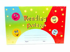Reading Award - Reward Certificates Pack 25 - 21.5 x 14cm - School / Play Group