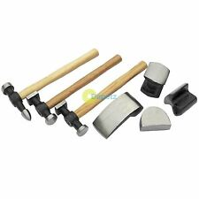 7pc Car Auto Body Repair Panel Beating Kit Drop Forged Steel Hammers Tool Set