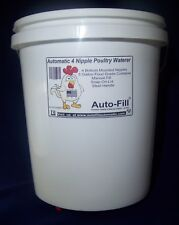 2 Pack- Automatic Hanging Chicken Waterer - 4 Nipple 5 Gal Bucket -Guinea Fowl