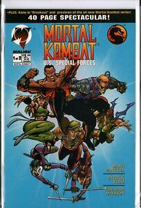 MORTAL KOMBAT: US SPECIAL FORCES #1,2 Malibu Comics COMPLETE NM- (9.2) SET