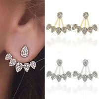 1 Pair Boho Crystal Rhinestone Water Drop Dangle Earrings Women Party Jewelry