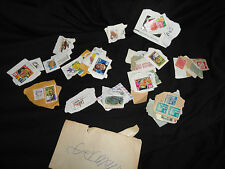Vintage Collection of Old Stamps 4 cent Lincoln Stamp, European India, Variety