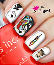 Nail Art Nail Decals Nail Transfers Natural & Acrylic - NIGHTMARE BEFORE XMAS