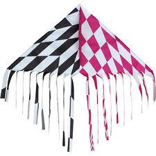 Pink / Black Opt Stripe Fringe Delta Single Line Winder String.7. Pr 17101