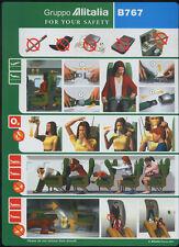 Gruppo Alitalia B767 - 64502015/06-2001 airline SAFETY CARD memorabilia sc322 aa