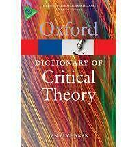 A Dictionary of Critical Theory by Ian Buchanan (Paperback, 2010)