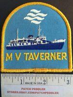 PATCH ~ M.V. MV TAVERNER BENJAMIN CANADA SHIP ~ SEA VESSEL NEWFOUNDLAND 597 ex