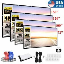 """60""""-150"""" Foldable Projector Screen 16:9 Hd Outdoor Home Cinema Theater 3D Movie"""