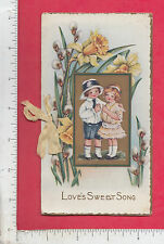 9021 Love's Sweet Song poem love token booklet c 1910