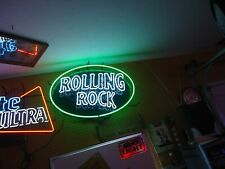 Rolling Rock Neon Beer Light Bar Sign Big Man Cave Sale Check It Out