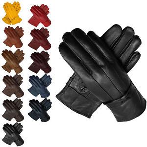 Women Lady Leather Gloves Luxury Soft  Wrist Driving Winter Warm Fur Lined UK