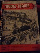 Vintage Model Trains Magazine October 1952