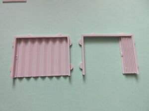 """3 D Printed Folding  Doors  """"00"""" for Scratch  Building  Factory Warehouse Etc"""