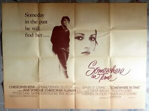 """SOMEWHERE IN TIME US Subway 45x59.5"""" Movie Poster Jeannot Szwarc Film 1980"""