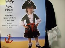 Girl Pirate Costume Size 3T - 4T Girl - New