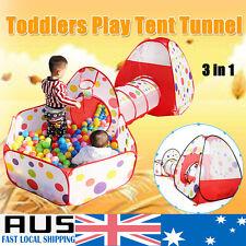 HOT Kids Child Pop Up Play Tent Crawl Tunnel Indoor Outdoor Garden Fun Playhouse