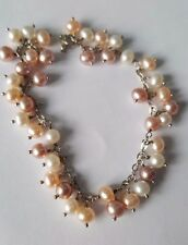 Freshwater pearl bracelets 925 sterling silver lobster claws fastening