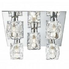 SEARCHLIGHT 2275-5 Cool Ice Chrome 5 Light Square Fitting with Ice Cube Glass