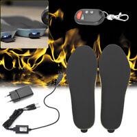 Electric Heated Shoe Solette Foot Warmer Heater Battery Warm Socks Ski Boot