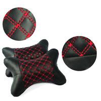 1pcs Car Seat Headrest Pad Pillow PU Leather Neck Rest Support Cushion Durable