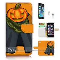 ( For iPhone 7 ) Wallet Case Cover P3009 Halloween Pumpkin