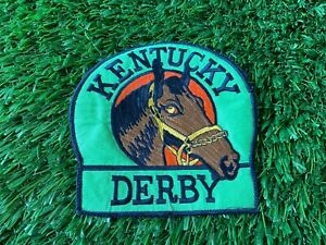 VINTAGE LARGE KENTUCKY DERBY HORSE RACING JACKET PATCH! RARE!