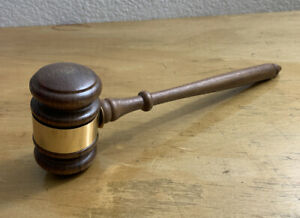 VTG Gavel Judge Wood Mallet Auction Hammer Legal Office Decor