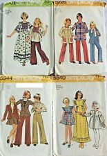 New ListingVintage 1970s 4 Sewing Patterns Simplicity Girl Size 8