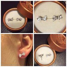 Boucles d'oreilles NOEUDS en argent Neuves