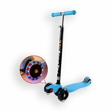 3 Rueda Niños Niños Maxi Scooter Empuje inclinación Lean T-Bar Drifter Azul Ajustable