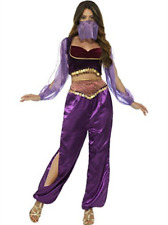 Arabian Princess Costume, Purple, with Trousers, Top & Fa (UK IMPORT) COST-W NEW