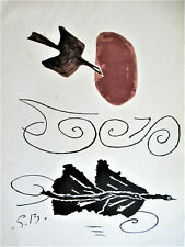 BRAQUE - THE DOVE - ORIGINAL COLOR LITHOGRAPAH - 1960  - SUPER SPECIAL $ 39.99 !