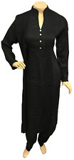 Indian Pakistani Rayon Suit Dress Black Pink Teal Stitched Salwar Kameez Shalwar