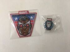 Marvel Collector Corps Exclusive Captain America Patch And Iron Man Pin