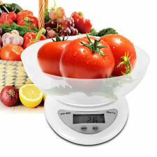 Digital Electronic Kitchen Scale Food Scale with Safety Bowl & 2x AAA Batteries