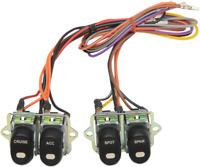 Drag Specialties Black Rocker Inner Fairing Switch Kit 96-13 Harley Electra FLHT